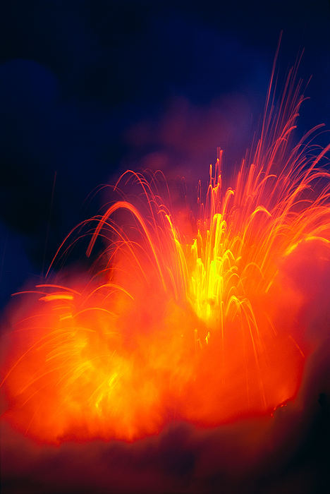 Big Photograph - Exploding Lava by Greg Vaughn - Printscapes