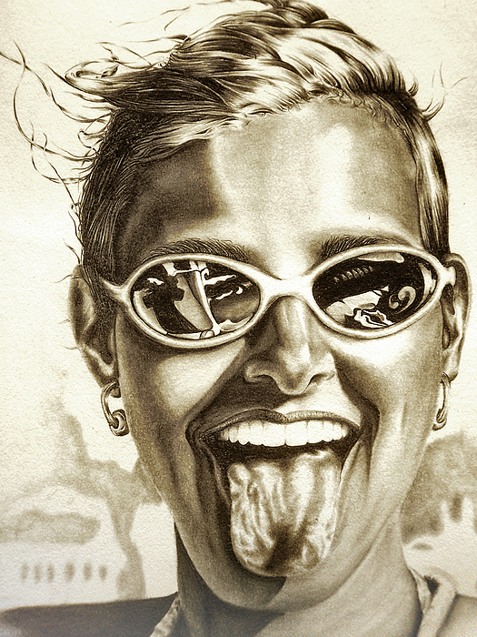 Portrait Drawing - Fabulous by Dennis Rennock