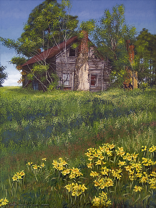 Landscape Painting - Fairplay Farmhouse by Peter Muzyka