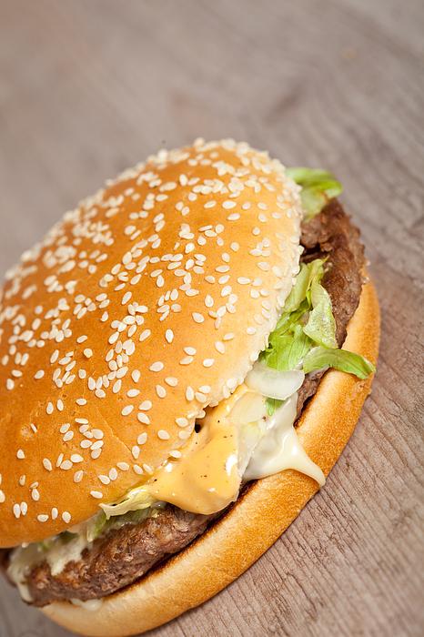 American Photograph - Fat Hamburger Sandwich by Sabino Parente