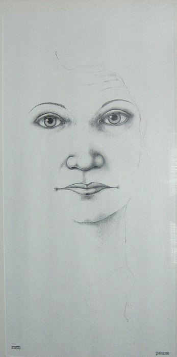 Pencil Drawing - Fiona by Connor Maguire