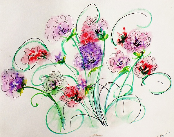 Floral Bunch Painting by Trilby Cole