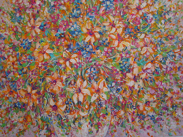 Flowers Painting - Flower Galaxy by Natalie Holland