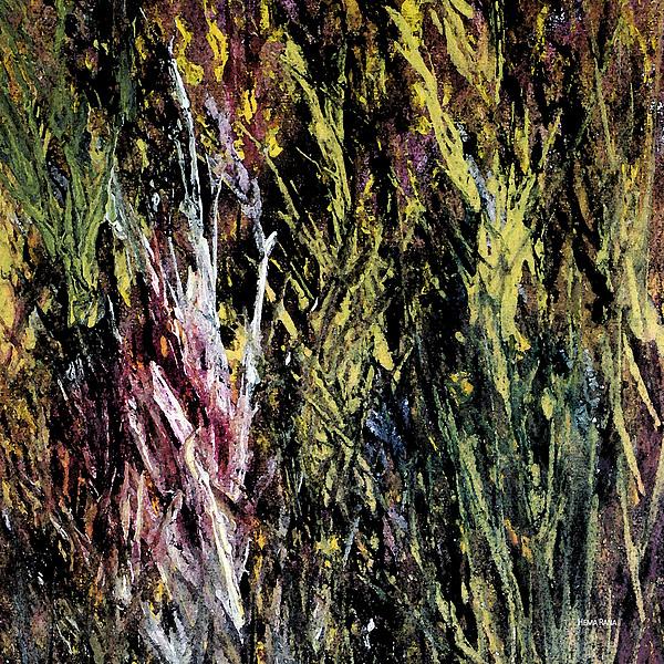 Grass Painting - Foliage by Hema Rana