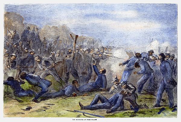 1864 Photograph - Fort Pillow Massacre, 1864 by Granger