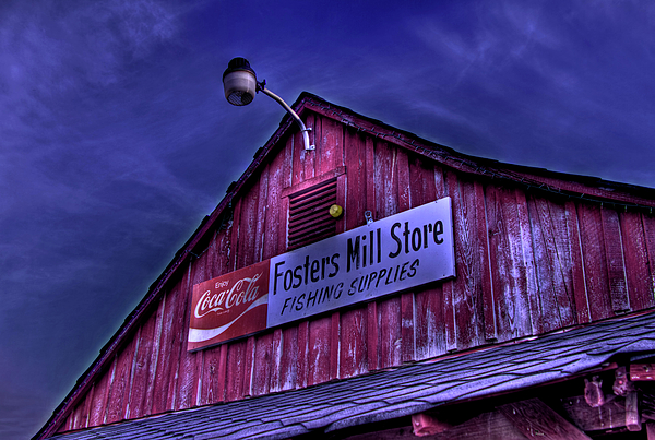 Fosters Mill Store Photograph - Fosters Mill Store Hdr by Jason Blalock