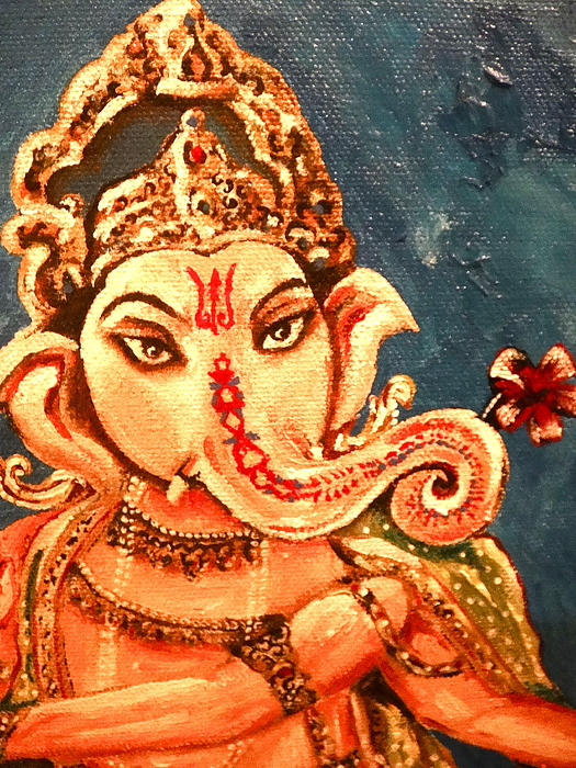 Ganesh Painting - Ganesh by Sabrina Phillips