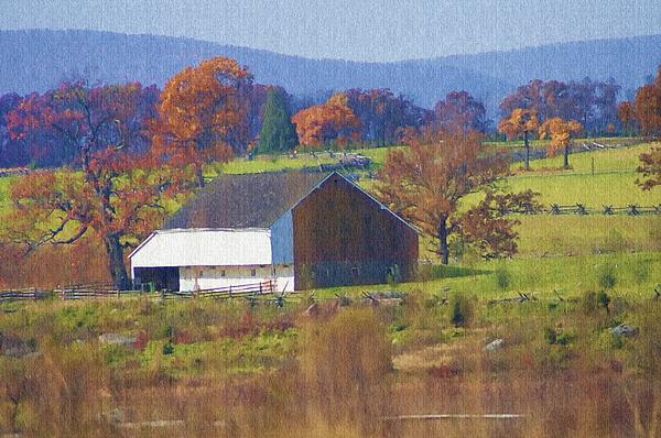 Gettysburg Photograph - Gettysburg Barn by Bill Cannon