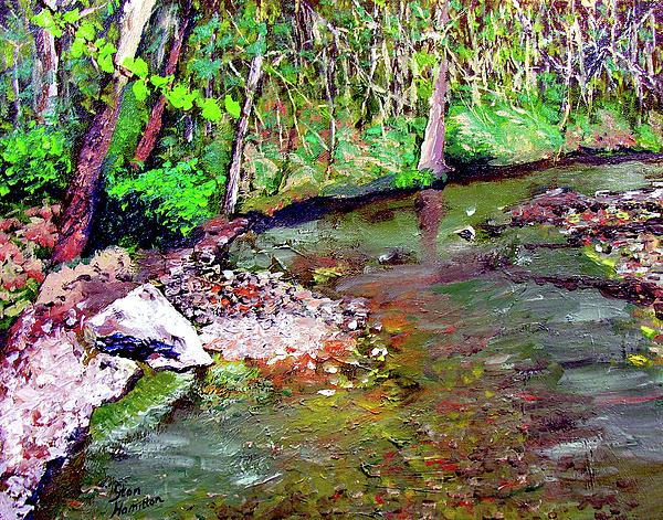 Plein Air Painting - Greesy Creek by Stan Hamilton