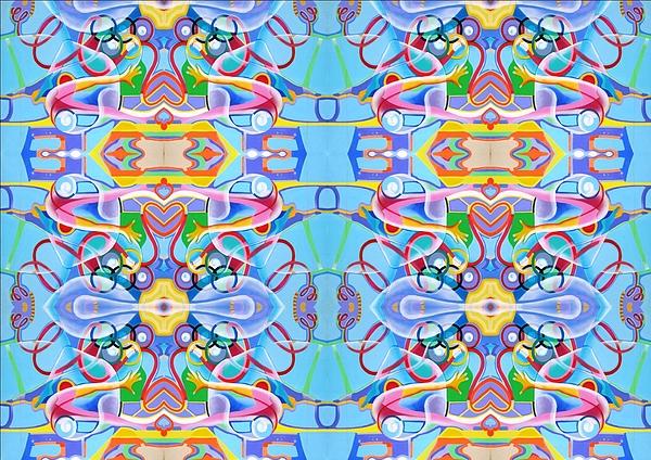 Gymnastics Tapestry - Textile - Gymnastics by Ky Wilms