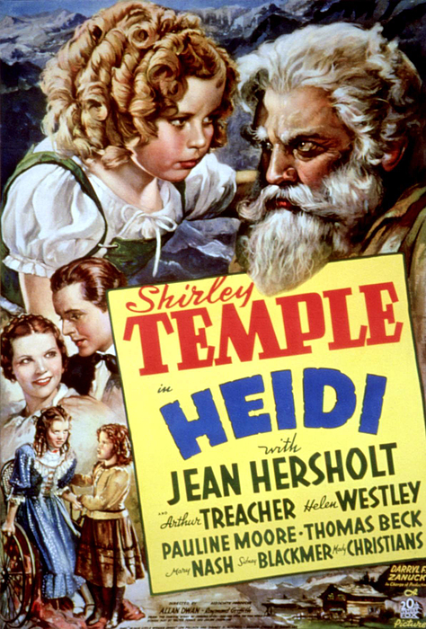 1930s Movies Photograph - Heidi, Shirley Temple, Jean Hersholt by Everett