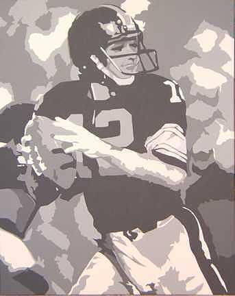 Football Painting - High School Hero by Michael James Toomy