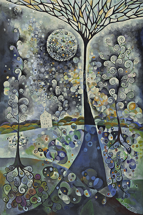 Bubbles Painting - House Of The Moon by Manami Lingerfelt