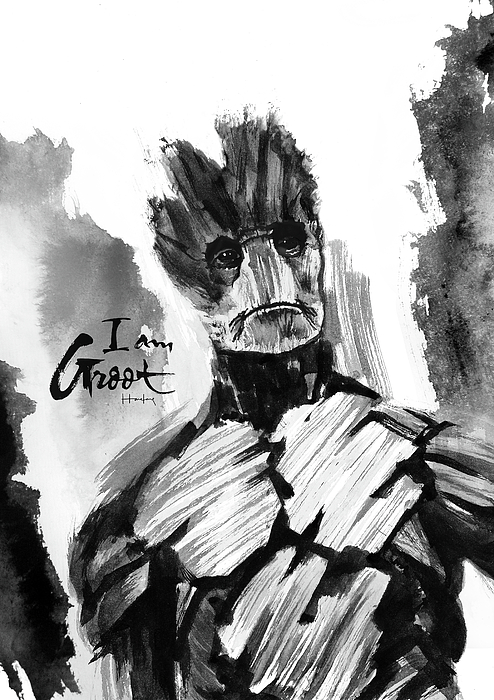 Groot Painting - I Am Groot by Haze Long