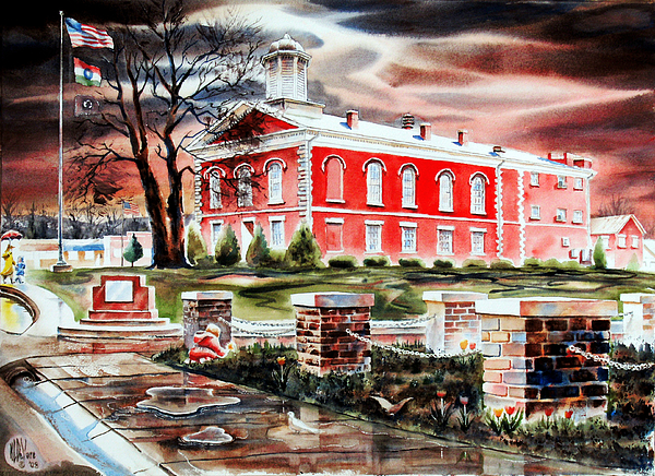 Kip Devore Painting - Iron County Courthouse II by Kip DeVore