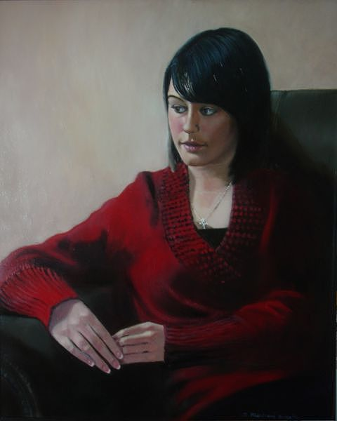 Portrait Painting - Jaime by Richard Shook