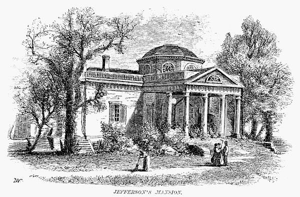 19th Century Photograph - Jefferson: Monticello by Granger