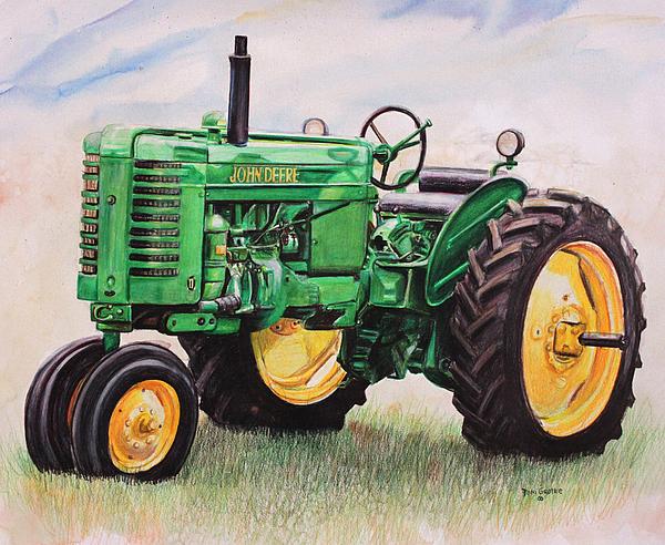 John Deere Painting - John Deere Tractor by Toni Grote