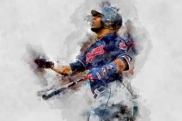 Baseball Mixed Media - Jose Ramirez by Marvin Blaine