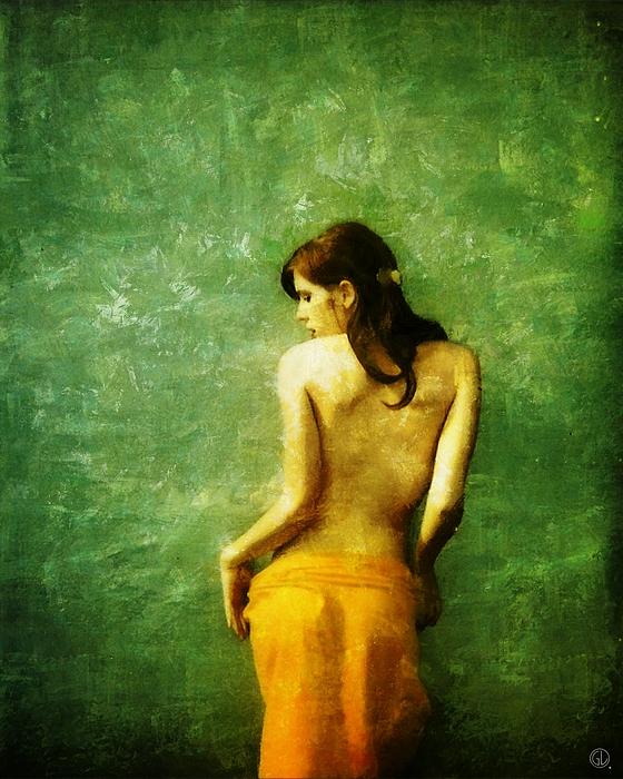 Woman Digital Art - Just A Back by Gun Legler