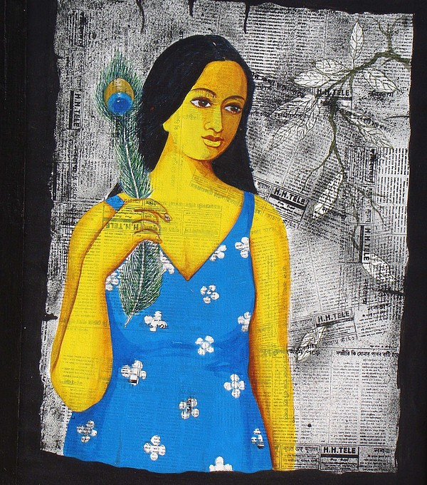 Krishna Painting by Hemanta Sur