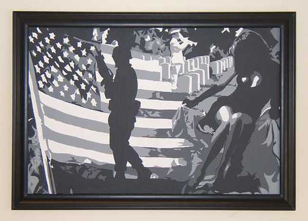 War Painting - Lady Liberty Mourns by Michael James  Toomy