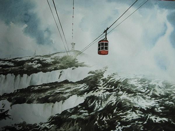 Landscape  Painting by Tultul Duwarah