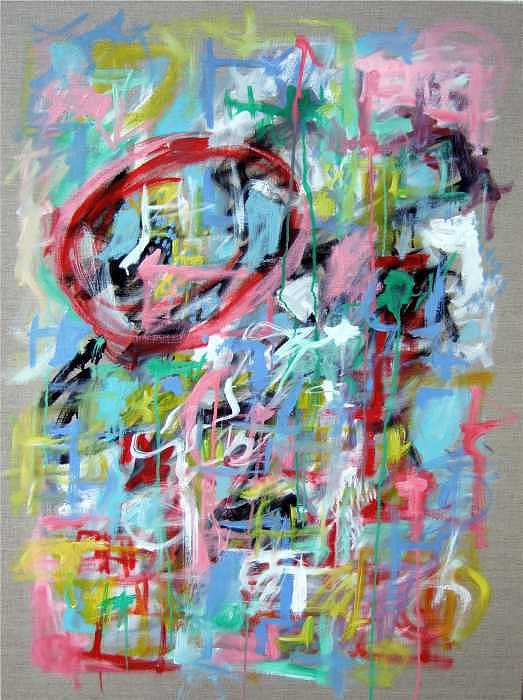 Abstract Painting - Large Abstract No 5 by Michael Henderson