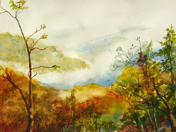 Mountain Landscape Painting - Laurel Thicket Overlook by Kris Dixon