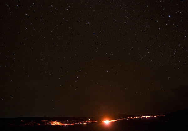 Hawaii Photograph - Lava And Stars In Hawaii by Fredrik Schenholm