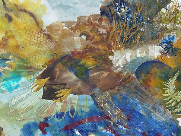 Abstract Painting - Let Freedom Ring by Kris Dixon