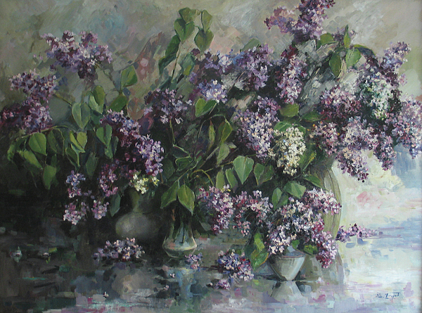 Armenian Painting - Lilacs by Tigran Ghulyan