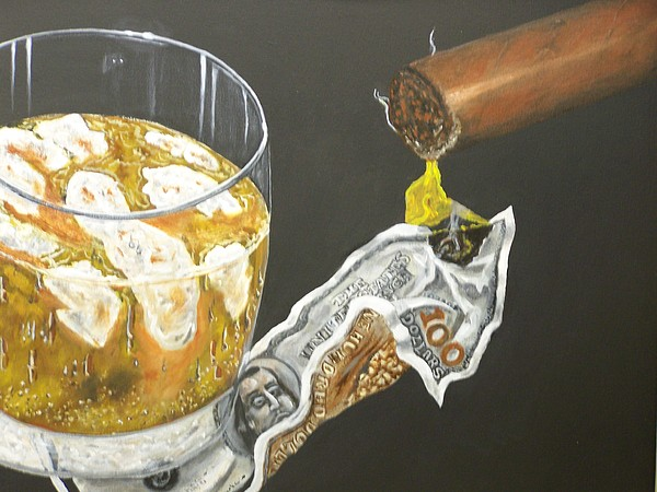 Lite Er Up Painting by Charles Vaughn