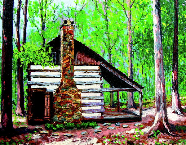 Log Cabin Painting - Log Cabin V by Stan Hamilton