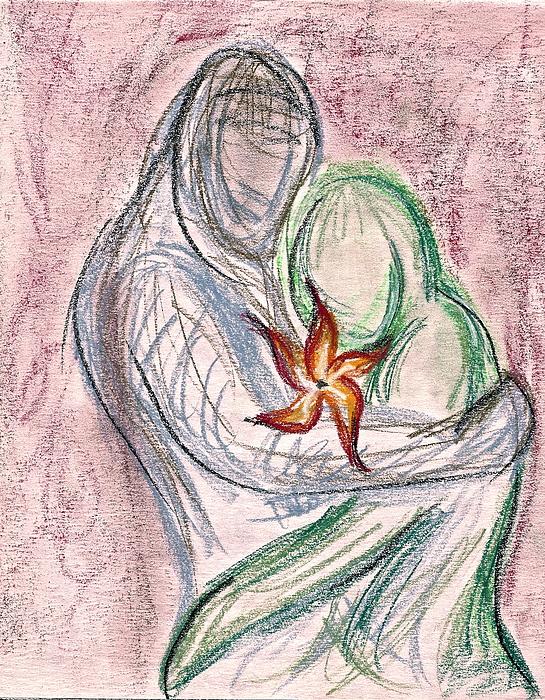 Love Drawing - Love Grows by Jennifer Addington