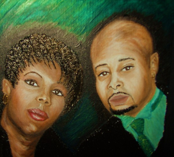 Acrylic Painting - Lovers And Friends by Keenya  Woods