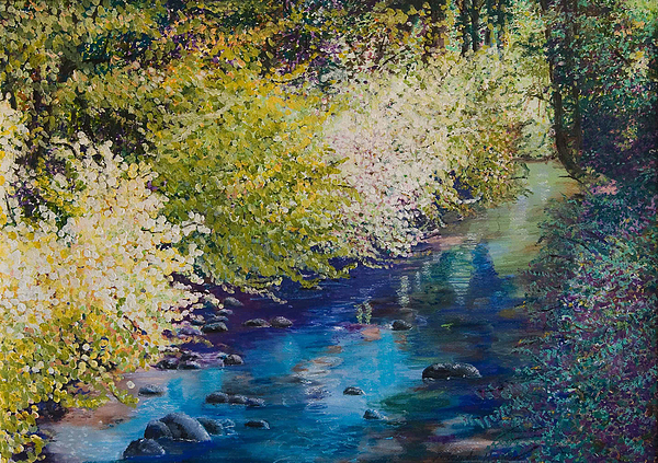 Creek Painting - Luminous by Lucinda  Hansen