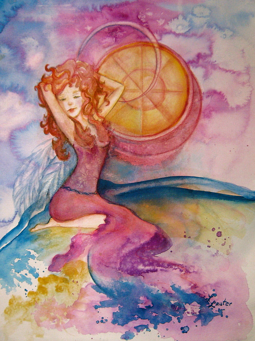 Watercolor Painting Painting - Luna by L Lauter