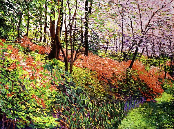Impressionist Painting - Magic Flower Forest by David Lloyd Glover