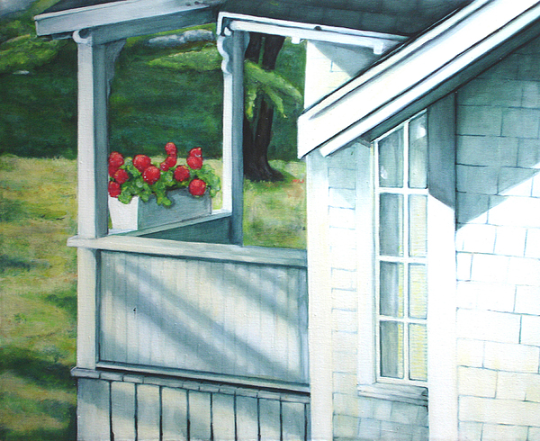 Maine Porches Number One Painting by Leo Malboeuf