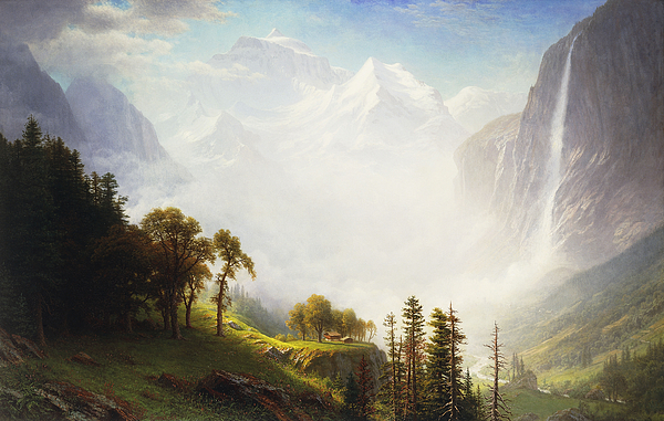 Majesty Of The Mountains Painting by Albert Bierstadt