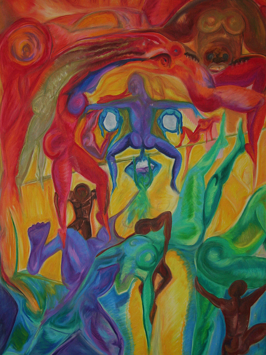 Abstract Pastel - Mann I The Middle by Sitara Bruns