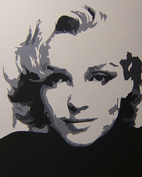 Marilyn Painting by Michael James  Toomy