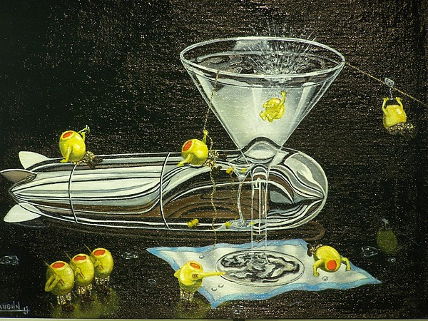 Martini Military Painting by Charles Vaughn