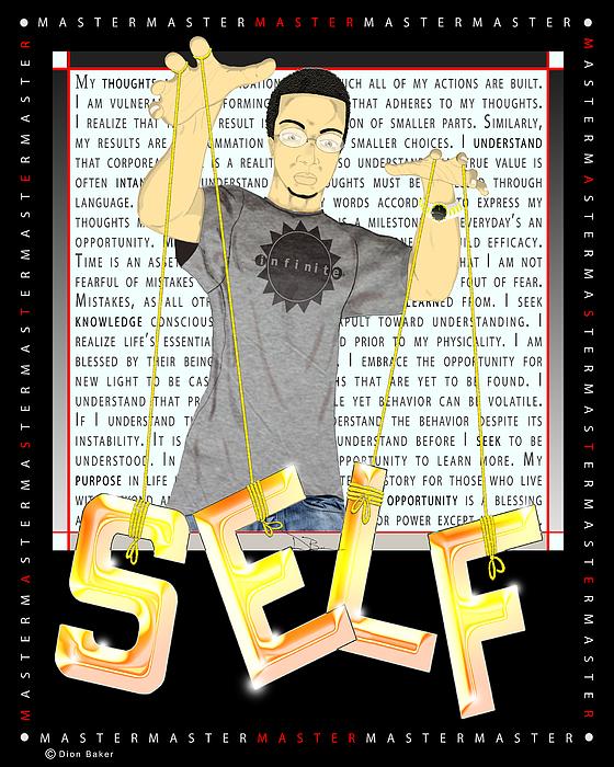 Master Self Digital Art by Dion Baker