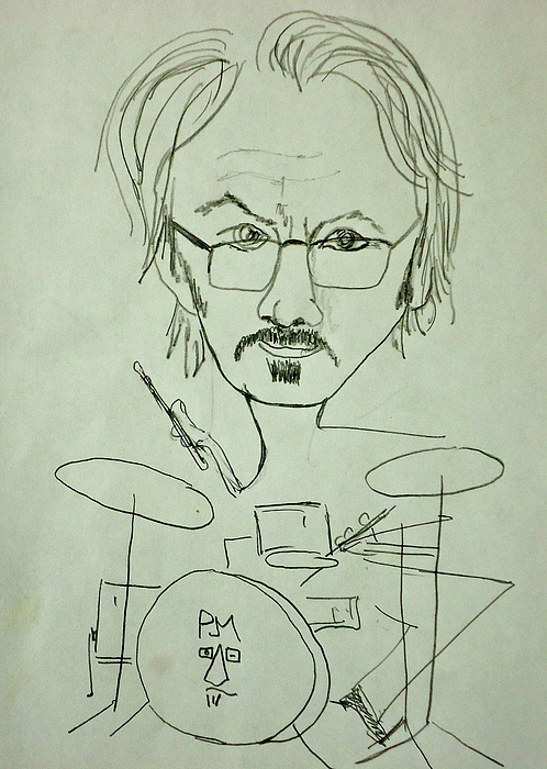Self Portrait Drawing - Me by Pete Maier