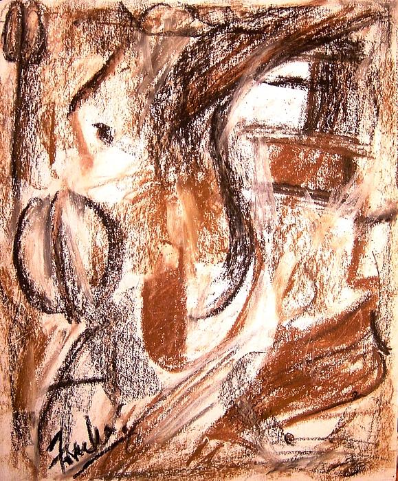 Abstract Mixed Media - Mental Fiction II by Fareeha Khawaja