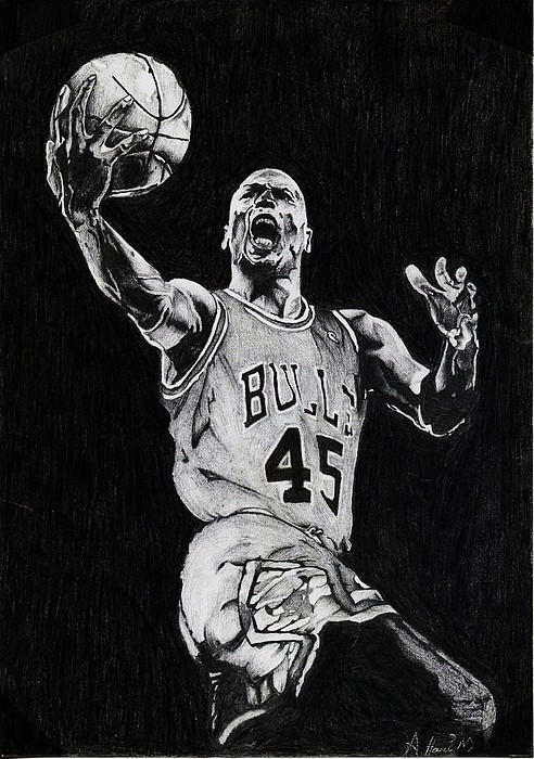 Michael Drawing - Michael Jordan by Hari Mohan