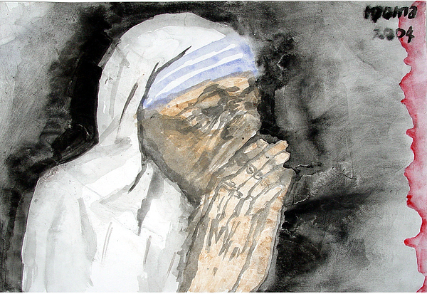 Mother Teresa Painting - Miracle Mother by Rooma Mehra