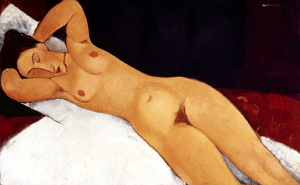 1917 Painting - Modigliani Nude 1917 by Granger